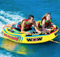 Wow Nitro 2 Person Inflatable Boat Towable Deck Tube Water Tow Raft Float NEW