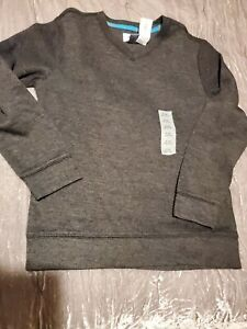 NWT V Neck Knit Top Boys Size Medium 8 Old Navy Charcoal Gray