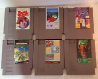 Nintendo NES Video Game lot of 6. Super Mario, Tecmo Bowl, TMNT.  Etc.. All Work