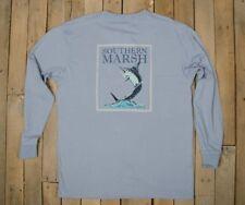 Southern Marsh Long Sleeve Blue Marlin Fishing T Shirt Blue Size L