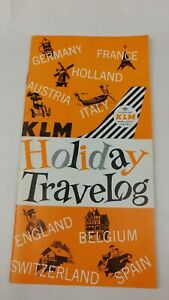 1961 KLM Holiday Travelog Travel Brochure