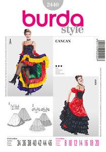 Burda Style Schnittmuster - Kostüm - Cancan - Western - Tanzkleid - Nr. 2440