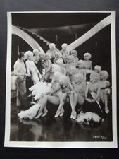 SEXY PARAMOUNT SHOWGIRLS IN MATCHING COSTUMES & WIGS ON STAIRS Vtg 1930's PHOTO
