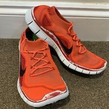 Nike Free Flyknit 5.0 Mens Trainers UK Size 8 Red