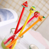 8pcs Cute Kawaii Fruits rollerball Gel Pens Business office student Stationery