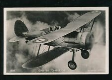 Aircraft Air Force Military RAF THE GLOSTER GLADIATOR RP PPC by Valentine