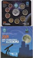 2009 San Marino Set Annuale Divisionale Con Euro 5 Argento Astronomia Fdc BU
