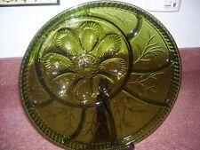 DIVIDED DEVILED EGG PLATTER SERVING DISH INDIANA GLASS