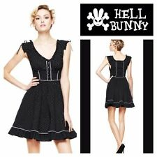 Hell Bunny Hot Topic Annabella Polka Dot Pin-Up Rockabilly Punk Dress size Large