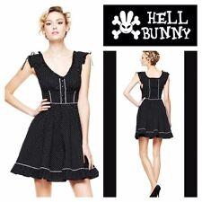Hell Bunny Hot Topic Annabella Polka Dot Pin-Up Rockabilly Punk Dress size Large