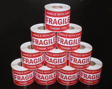 2500PCS 76x50mm Fragile Handle With Care Thank You Adhesive Label Sticker Roll