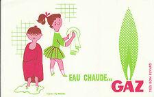 Buvard Vintage  Eau Chaude  GAZ   D'Après Fix Masseau