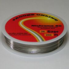 Nichrome 60 resistance wire, 26 AWG (gauge), 200 feet