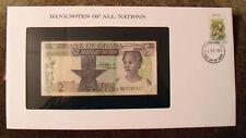 Banknotes of All Nations Ghana 1982 2 Cedis  P18d UNC Prefix BG