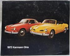 1973 VOLKSWAGEN KARMAN GHIA AUTOMOBILE CAR SPECIFICATIONS CHART SHEET VINTAGE
