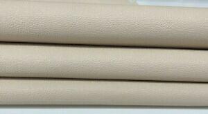 PEBBLE GRAINY IVORY Italian Goatskin leather skin skins hides 5sqf 0.7mm #A7580