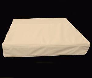 pb302t Beige Faux Leather Skin 3D Box Square Sofa Seat Cushion Cover*Custom Size