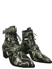 NEW LADIES ANKLE BOOTS SNAKE PRINT STYLISH SMART AND TRENDY