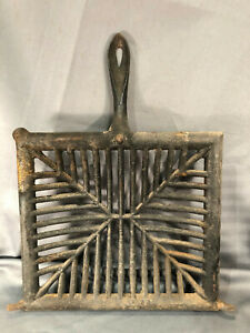 """Grate Grill Replacement Hibachi BBQ Cookout Cast Iron Concave 10"""" x 11"""" Meat Art"""