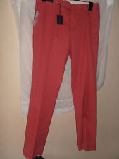 BNWT Ralph Lauren Custom Fit Military Chino Trousers Brick Red 33/34