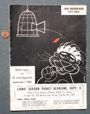 1961 NFL Detroit Lions-St.Louis Cardinals Football Game Program-Don Shula Coach!