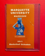 1970-1971 MARQUETTE WARRIORS Pocket Schedule NCAA Basketball Vtg 70' NIT Champs