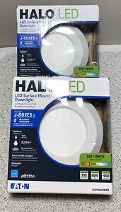 "(2-PACK) Halo SLD 4"" LED Recessed Retrofit Light Fixture Soft White M2 R19 Eaton"
