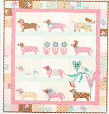 Doxie Dog - cute applique and pieced wall quilt PATTERN - Bunny Hill