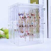 Acrylic Jewelry Storage Box Earring Display Stand Organizer Holder