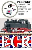 PIKO G SCALE STARTER SET LOCO, TRACK & CONTROL 45mm GAUGE FIT LGB BACHMANN TRAIN