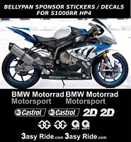 Sponsor Decals Stickers for S1000RR HP4 Bellypan / Fairing (12 stickers)