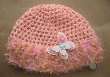 CROCHET-BEANIE-Women/Girls -Size Small 55-56cm Peach Crochet Turban Style Beanie