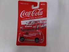 Coca Cola Die-Cast Metal Car Red Van NEW on Card by HARTOY