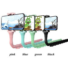 Caterpillar Lazy Bracket Mobile Phone Holder Stand Worm Flexible Suction Cup
