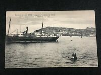 DRATCH Durrës Port View Steamship Steamer Serbia Balkan War 1912 Postcard