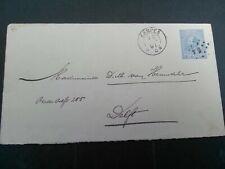 Nederland envelop Geuzendam 4 verzonden van Kampen - Delft 1891 puntstempel 54