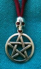 Colgante Pentagrama calavera Amuleto Talismán Pie Druida  Halloween a