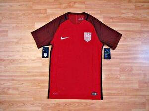 NIKE USA USMNT Third Vapor Match Player issue Soccer Jersey Football Shirt RED