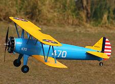 Unique EPO PT17 Stearman RC KIT Plane Model W/O Motor Servo 40A ESC Battery