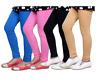 Girls Kids Children Cotton Full Length Leggings All Ages Black Green Yellow Grey