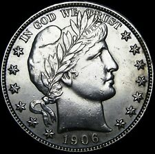1906-D Barber Half Dollar --- GEM BU --- #V822