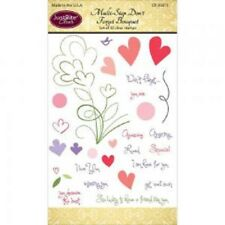 JUSTRITE CLEAR Stamps MULTI STEP DON'T FORGET BOUQUET 30 Stamps CR-05015 Hearts