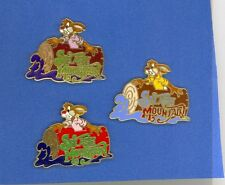 Disney Brer Rabbit Riding Splash Mountain Attraction All 3 Versions Pin Set