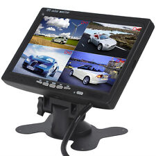 7 Inch TFT LCD Color 4 Split Quad Video Display Car Rear View Headrest Monitor