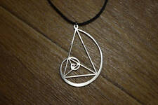 Fibonacci necklace jewerly Golden Triangle pendant Ratio gauge symbol spiral pin