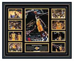 SHAQUILLE O'NEAL SHAQ LA LAKERS SIGNED PHOTO FRAMED LIMITED EDITION MEMORABILIA