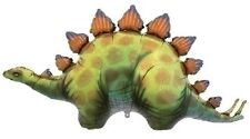 "Dinosaur Dino Stegosaurus 46"" Green Orange Birthday Party Mylar Balloon Xxl"