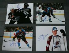 Lot of 4 Autographed Colorado Avalanche 8x10 Photos  Stewart Richardson Jones
