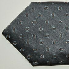 brand new PAL ZILERI tie DARK GRAY GEOMETRIC AUTHENTIC $195