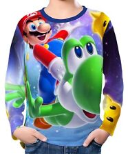 Super Mario Galaxy Boys Kids Long Sleeve T-Shirt Tee wc2 ael30304